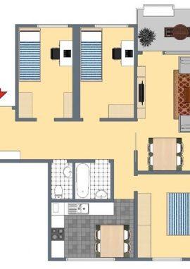 Typ F, 93 m²