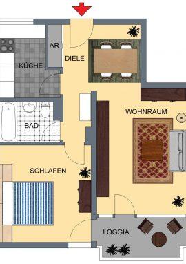 XnC_Typ B, 59 m²