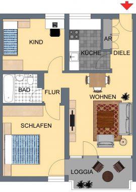 XnC_Typ D, 64 m²